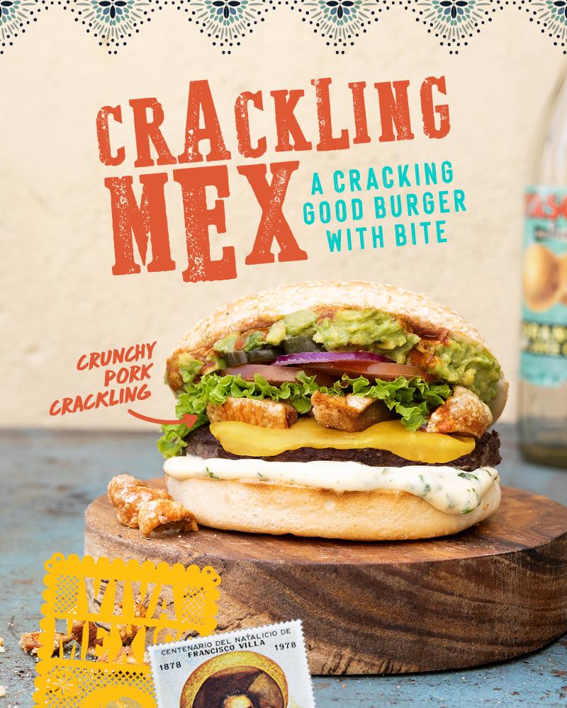 Crackling Mex Burger